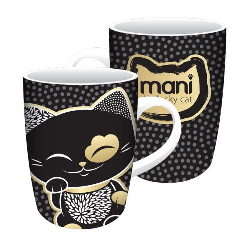 Hrnček Mani Lucky Cat, Black