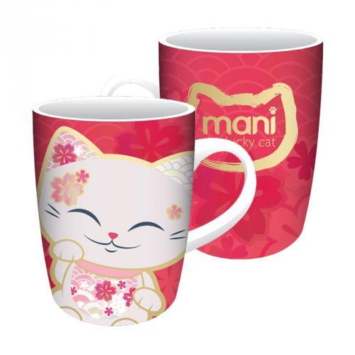 Hrnček Mani Lucky Cat, Cyclamen