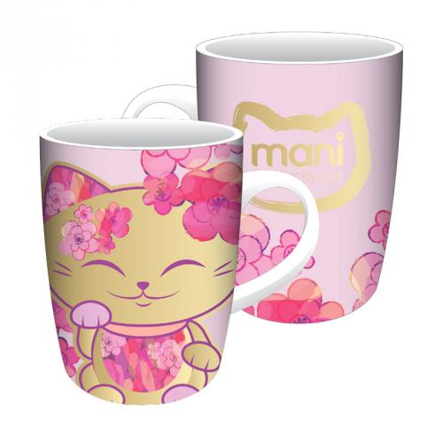 Hrnček Mani Lucky Cat, Pink